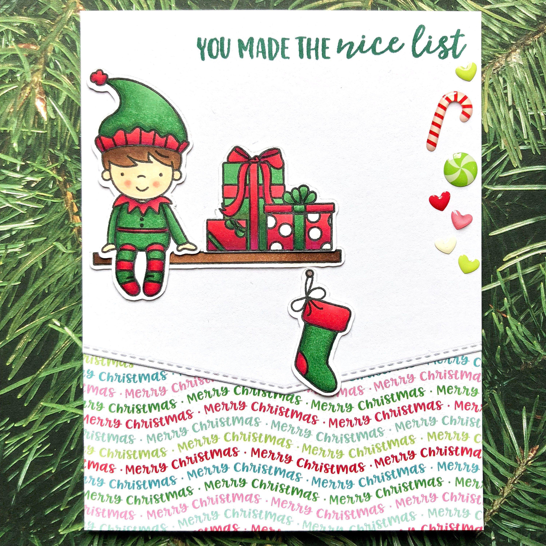 Elf Card - Elf Christmas Card - Boy Elf - Boy Christmas Card - Kids ...