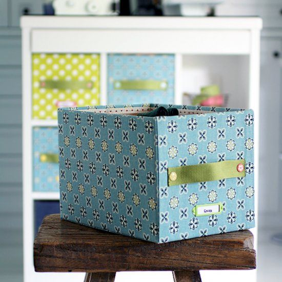Decorative Fabric Storage Boxes Quick And Easy To Make Storage Boxdress Up Your Cabinet With A
