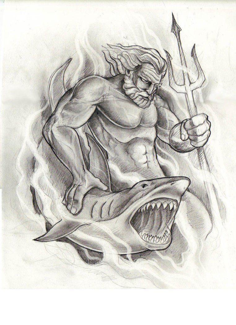 Wassermann Poseidon Tatowierung Keltische