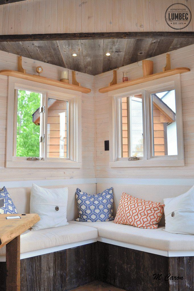The micro house from Tiny House Lumbec a 136 sq ft tiny house on
