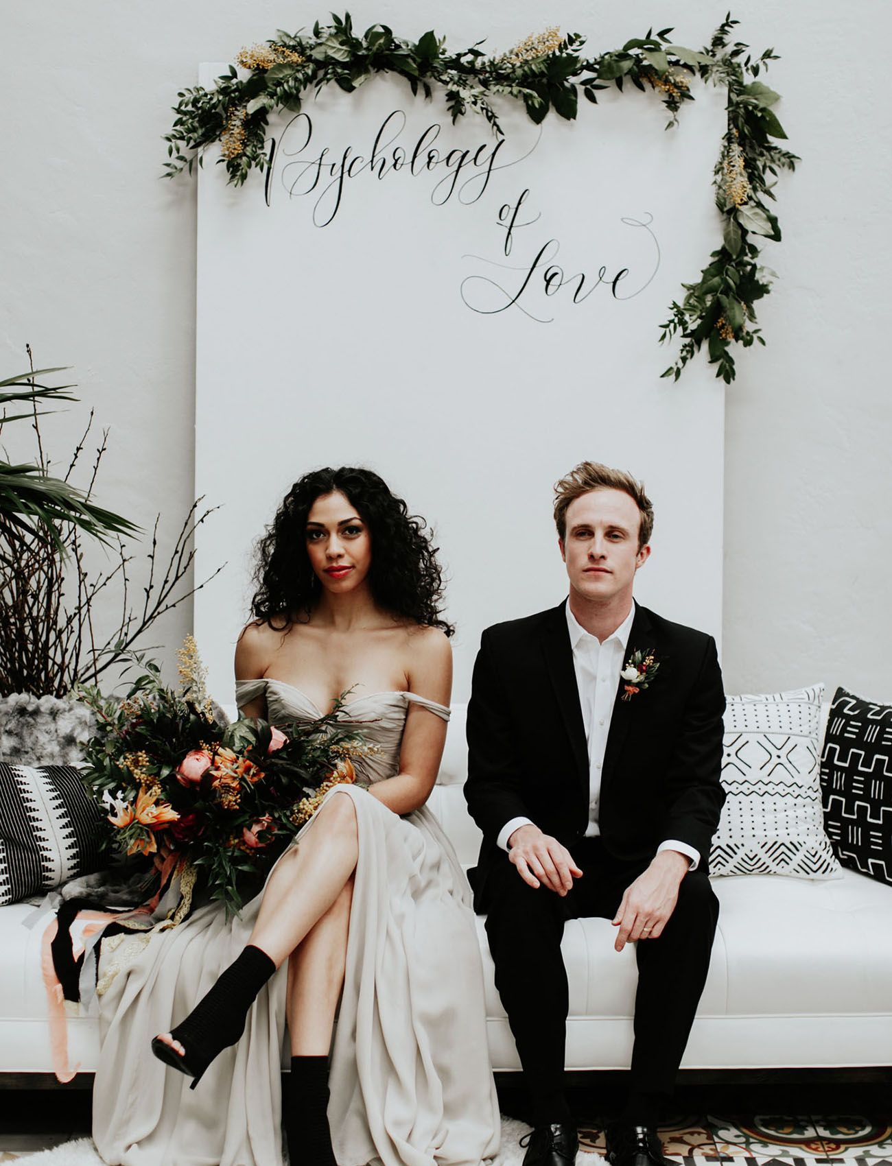 Inspired by Ink: An Edgy Wedding for the Artistic Couple | Long ...