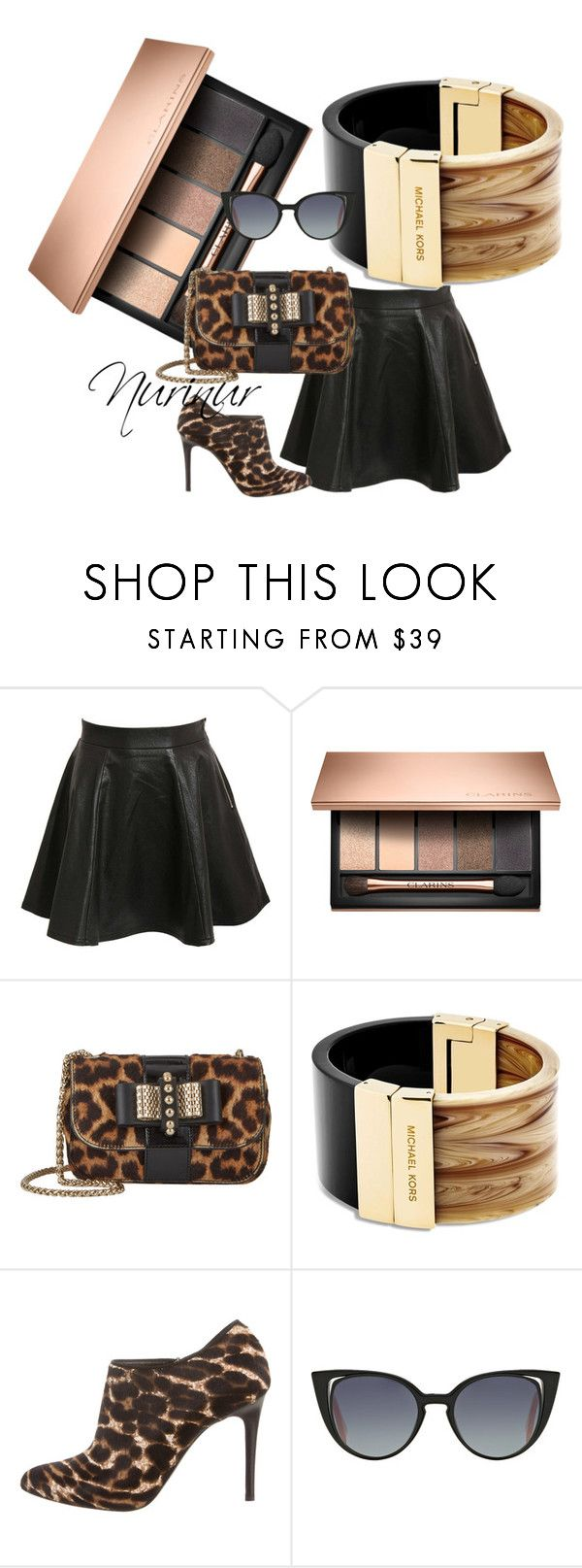 """Exception"" by nurinur ❤ liked on Polyvore featuring Pilot, Christian Louboutin, Michael Kors, Lanvin and Fendi"