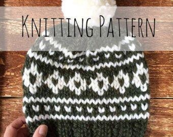 Mountain Toque, Knitting Pattern, Fair Isle, Fair Isle Knit Hat ...