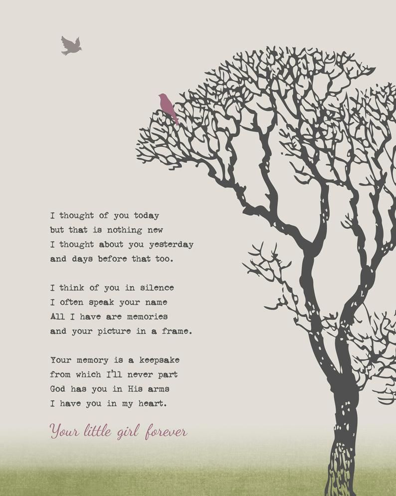 Remembrance Family Tree Grief Grieving Art Print M