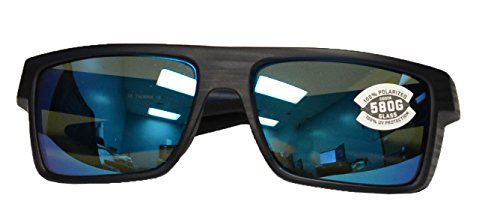b2a03c49623 Costa Del Mar Motu Sunglasses Black Teak Blue Mirror 580 Glass Lens --  Check this awesome product by going to the link at the image.