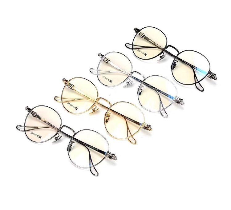 7d041bb92a New fashion vintage round Titanium metal frame glasses men women optical  computer reading eyewear luxury brand