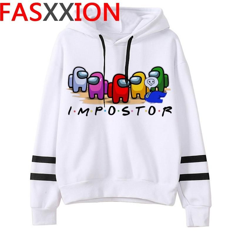 EMILYLE Among Us Boys Hoodie 3D Game Pattern Print Teens Fashion Pullover with Two Pockets Sweatshirt