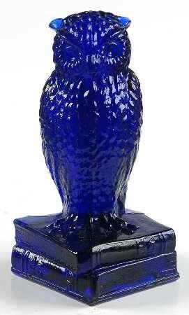 Vintage Degenhart Cobalt Blue Glass Owl Blue Glass Blue Glassware Blue Bottle