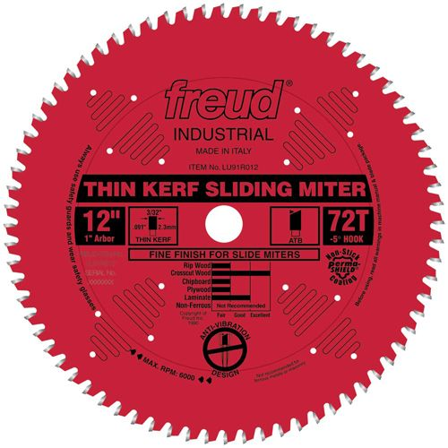 Freud Lu91r Thin Kerf Sliding Compound Miter Saw Blades Table Saw Blades Sliding Compound Miter Saw Circular Saw Blades