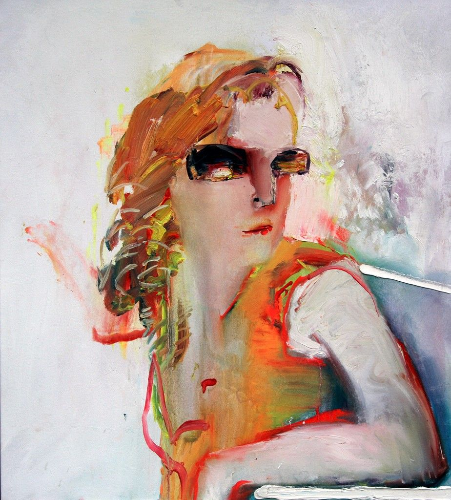 'Filmstar Emily'  90cm x 90cm  oil on canvas  2008