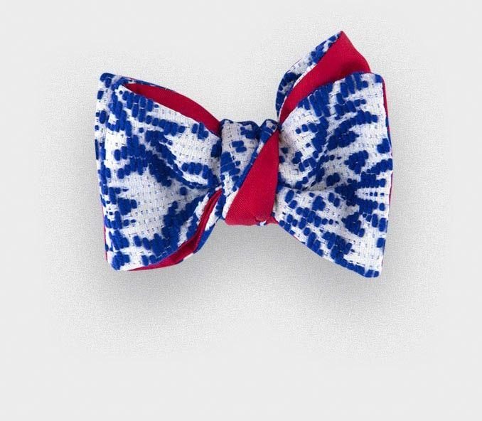 97a66f68b847 CINABRE Paris - Noeud Papillon Brocart Bleu #cinabre #paris #noeudpapillon # bowtie #