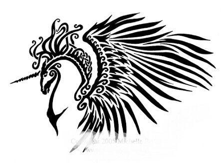 Flying Unicorn Celtic Tribal Celtic Horse Tattoo Horse Tattoo Design