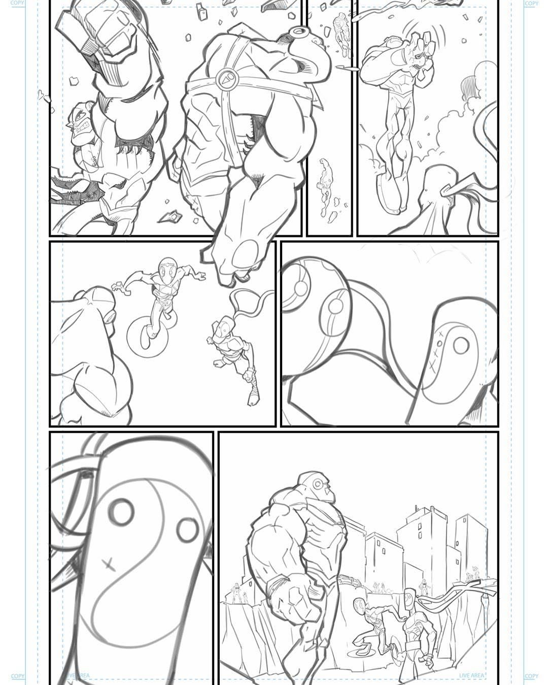 It's been a slow process with other projects keeping me busy but for those who are reading #theshowcomic here's the next page #digitalpencils  Just showing you guys a bit of my process.  Check out the FREE web comic. Link in my profile.  #HaroldGeorge #HaroArtist #comicart #sketch_dailies #comicbooks #sketch_dailies #sketching #comics #sketch #makingcomics #whatsup209 #turlockart #ijustwannadraw #drawing #instagood #instayourdrawing #indiecomics #doodles #artistsoninstagram