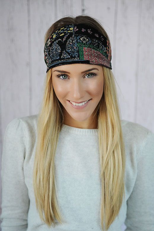 Bohemian Headband Stretchy Patchwork Printed Accordion Wide Headband for  Women 7be2766354b