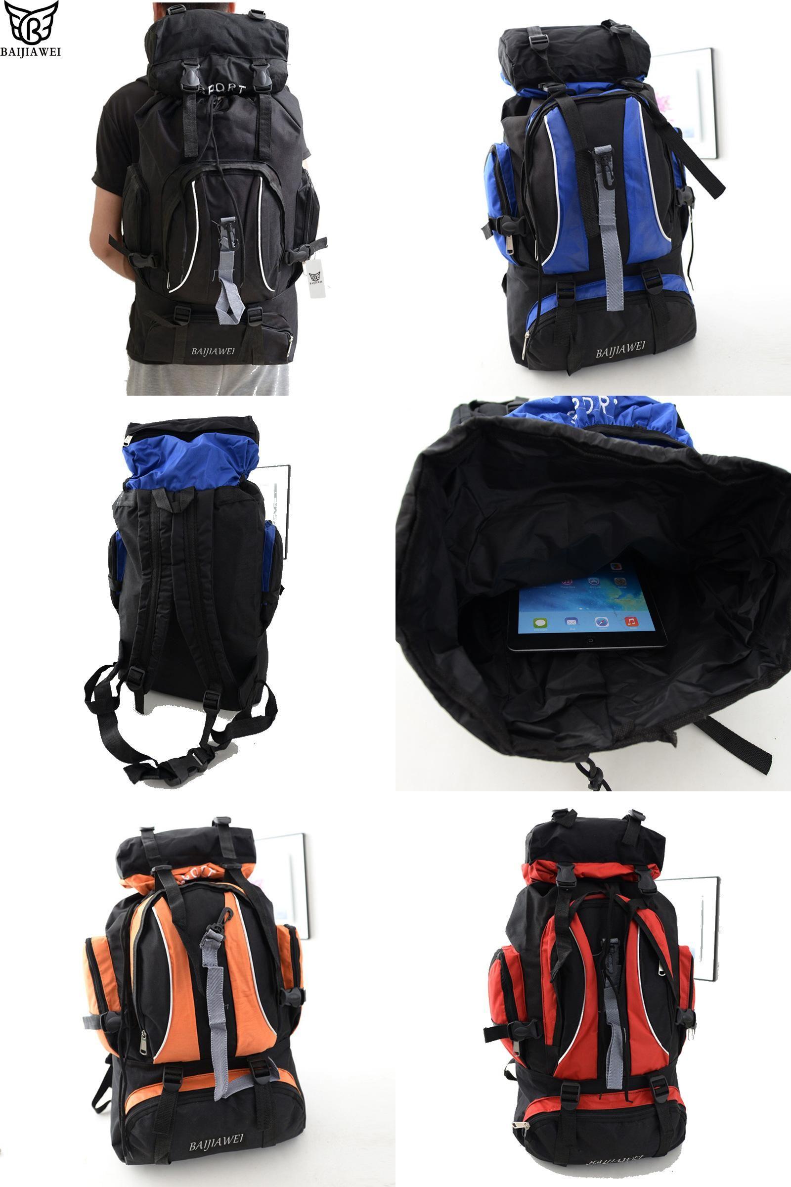 Visit to Buy] BAIJIAWEI 60 Liters Large Capacity Multifunction Travel  Backpacks For Man and Women Trekkin… | Mens backpack travel, Trekking  rucksack, Foldable bag