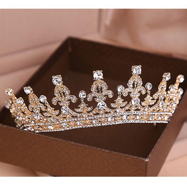 Wedding Hairstyle Prices: Red/Clear Wedding Bridal Crystal Tiara Crowns Princess