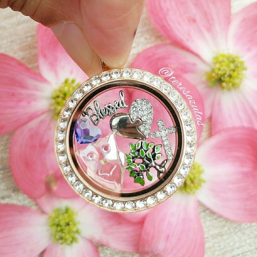 Origami Owl Large Twist Living Locket Rosegold With