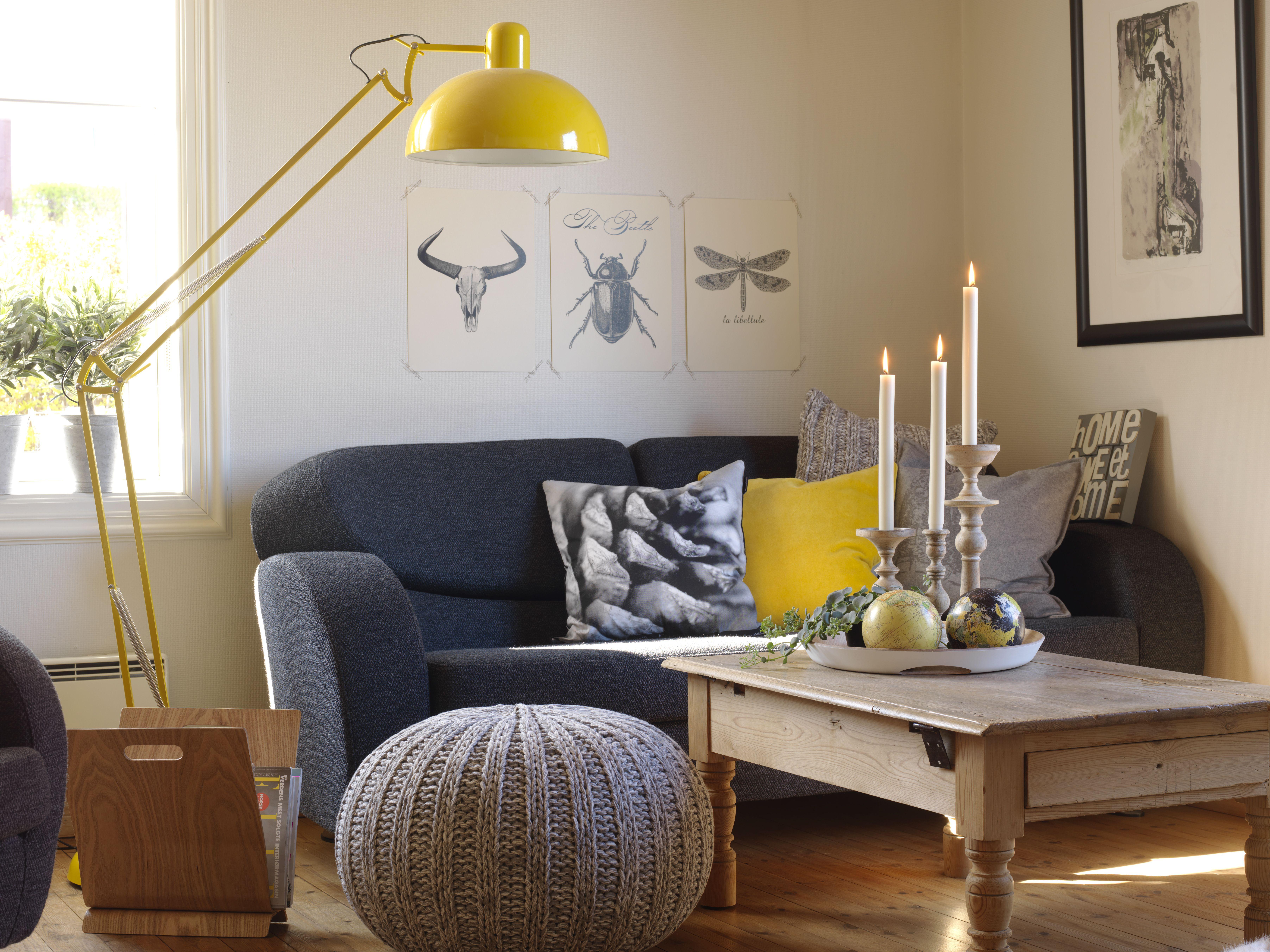 Gulvlampe XXL gul | Kremmerhuset | Drømmehjem | Pinterest