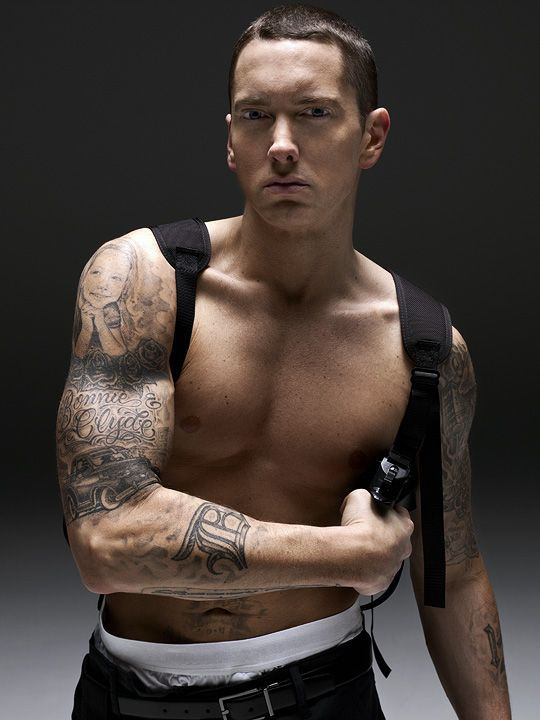 Eminem Portraiture Photography Photo Studio Shoot Celebrities - Tatuajes-eminem