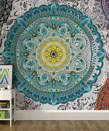 Look what I found on #zulily! Shangri La Coloring Wall Mural ...