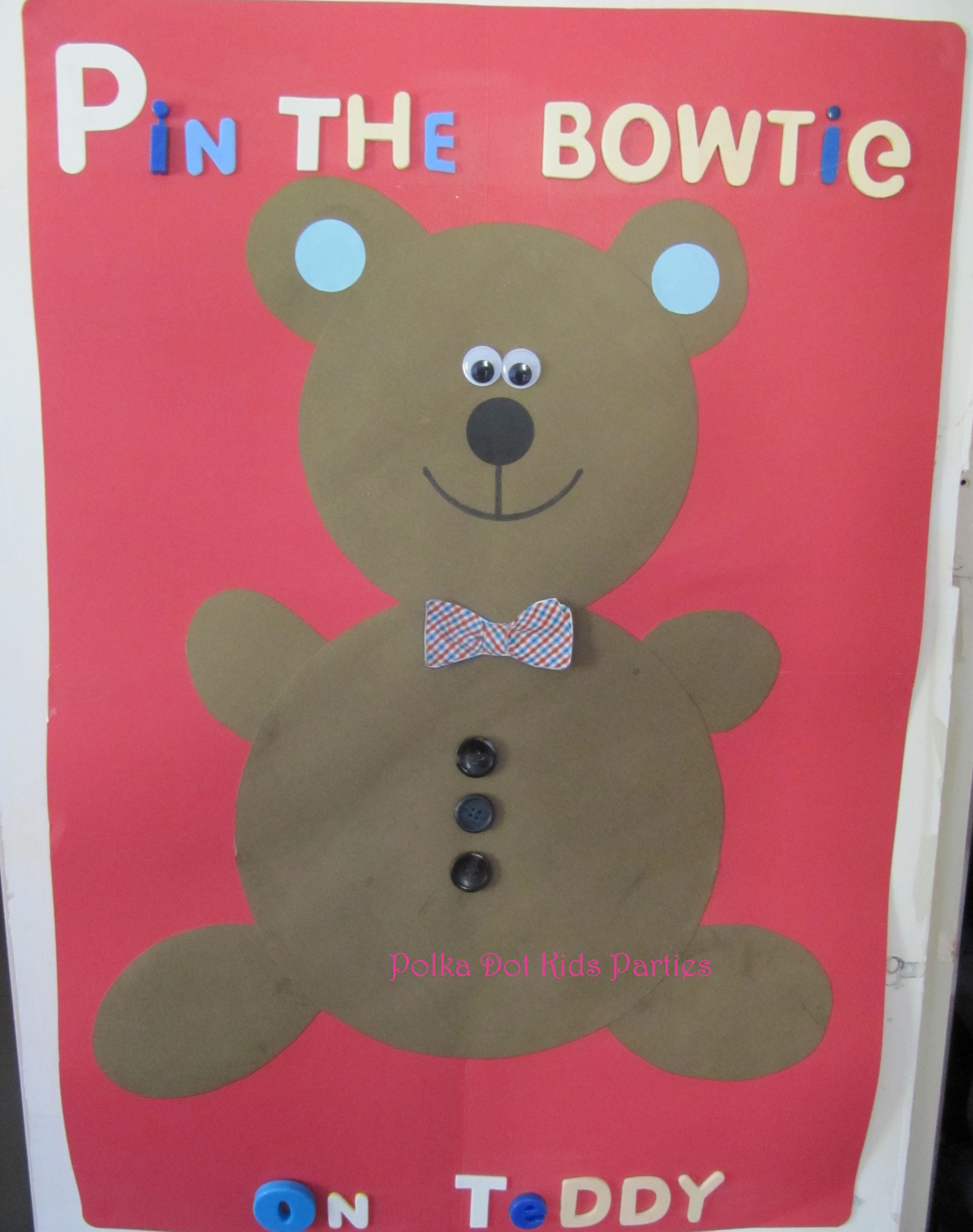 Pin the Bowtie on the Teddy - party game for Teddy Bear Picnic Party ...