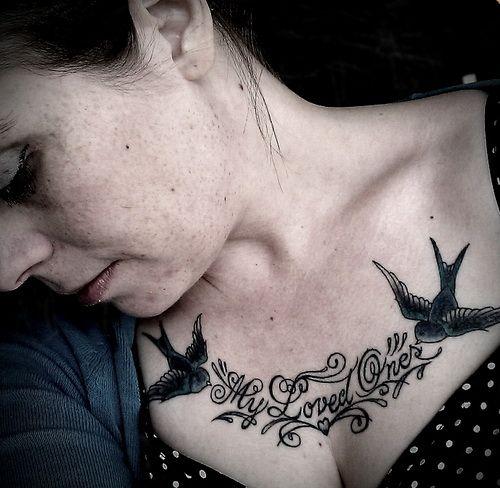 Chest Piece Tattoo Words