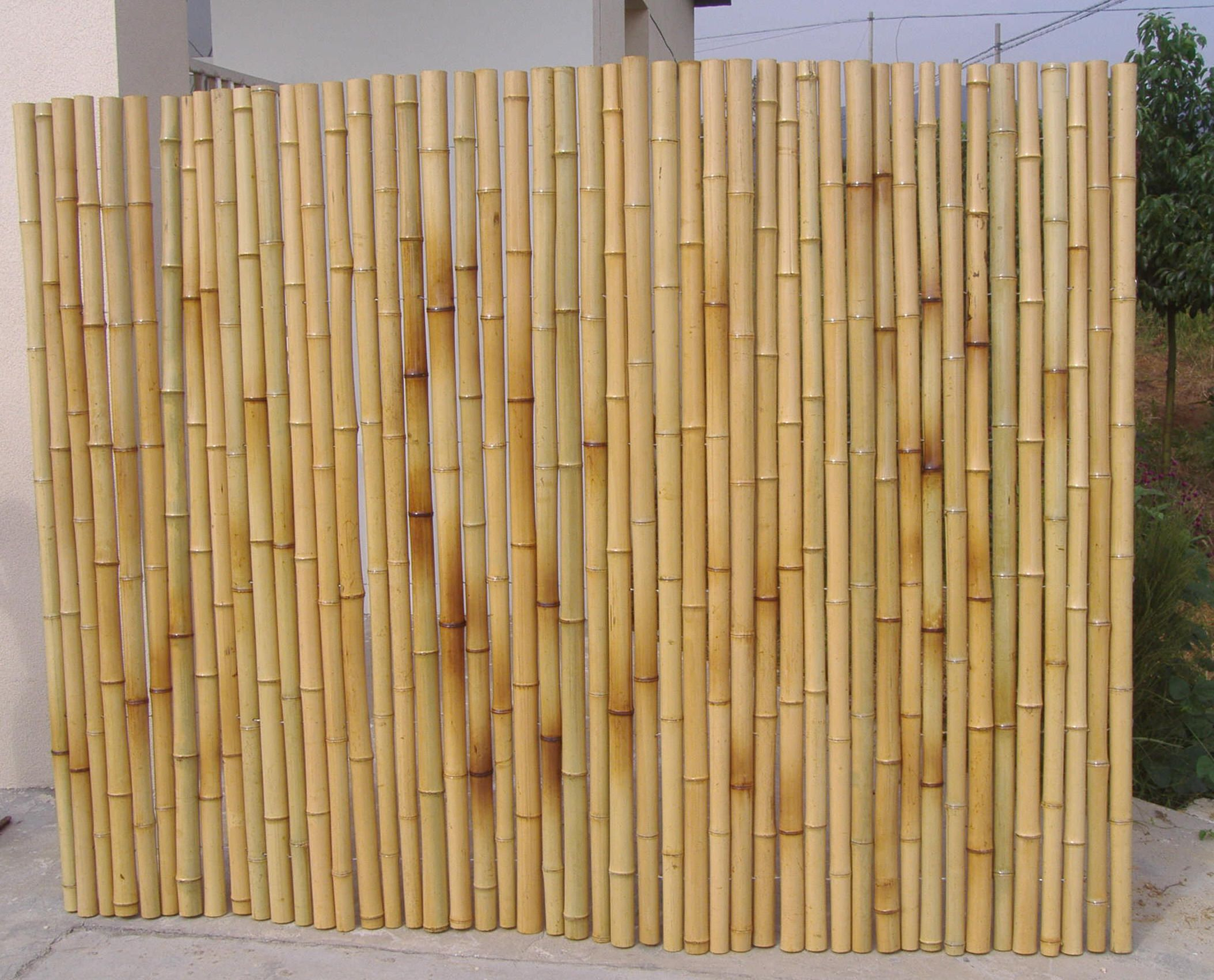 How To Build A Bamboo Fence - LivingGreenAndFrugally.com