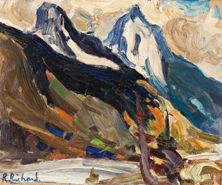 Rene Richard - Columbia River 10 x 12 Oil on panel (1962)