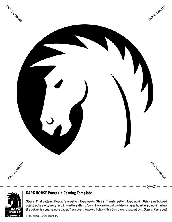pumpkin template horse  pumpkin carving patterns horses - Google Search | Halloween ...