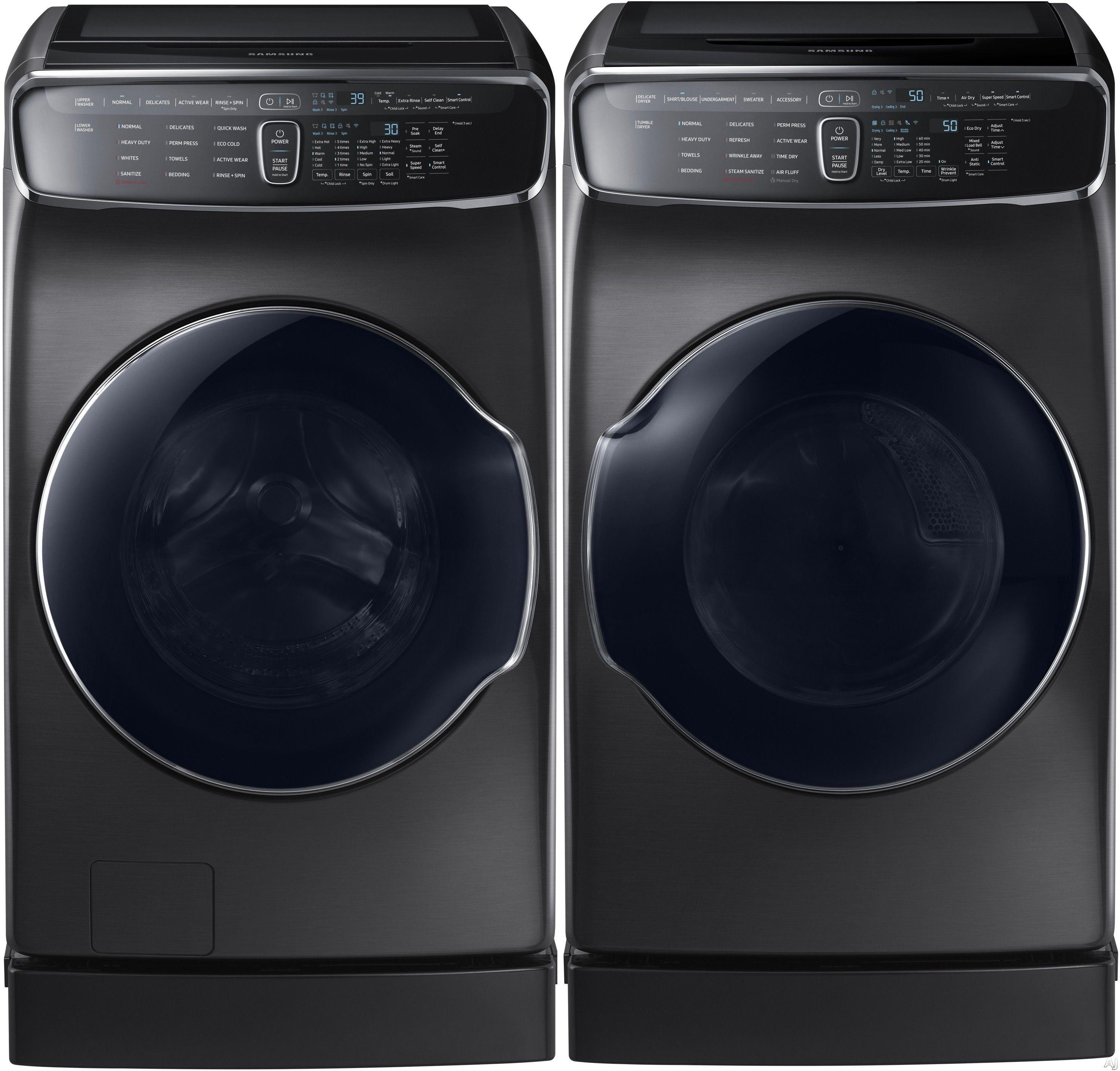 Samsung Sam9900fw Samsung 9900 Series Flexwash Washer Dryer Pair Washer And Dryer Washer Dryer