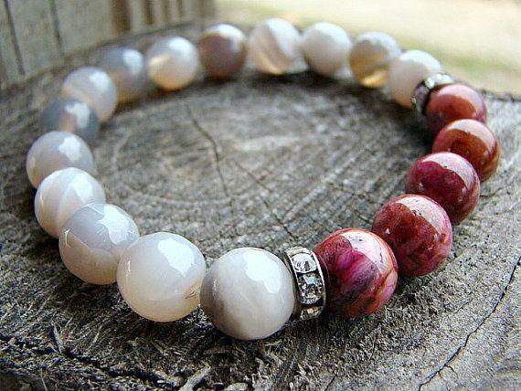 Pulseras de piedras preciosas pulseras de por BeJeweledByCandi