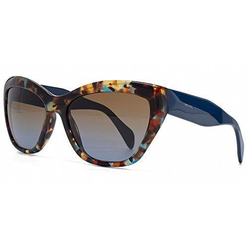 cb83a5f8d91ad Prada 02QS NAG0A4 Tortoise Blue 02QS Poeme Cats Eyes Sunglasses Lens  Category