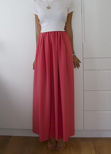 dyi maxi skirt