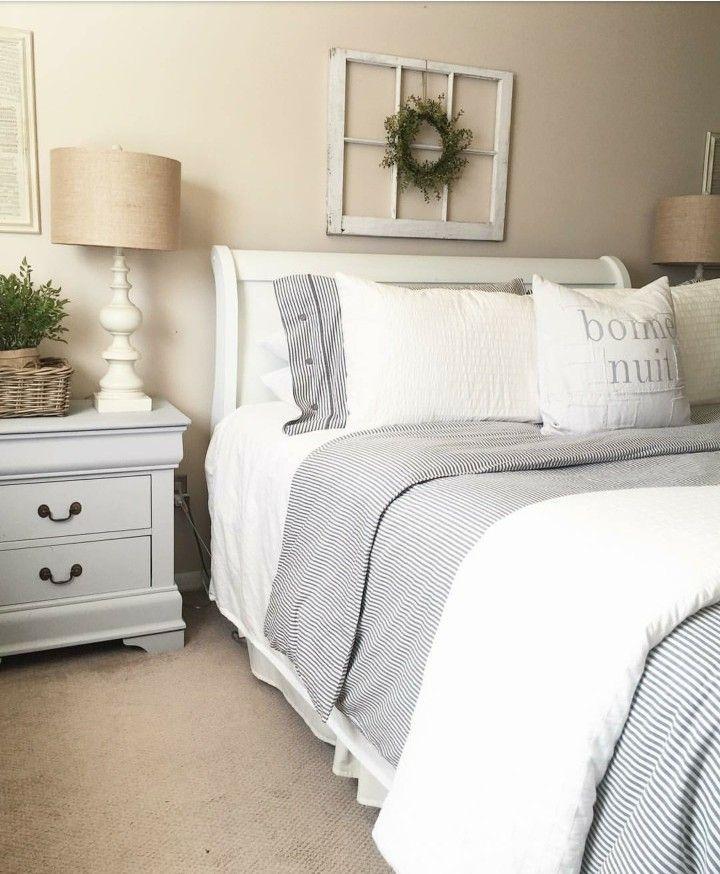 Ikea Master Bedroom: IKEA Striped Duvet Cover - Guest Bedroom.