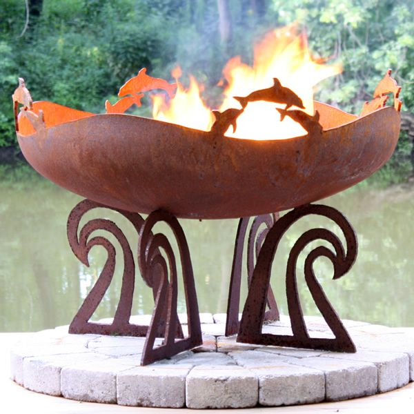 Woodland Direct Ocean Fire 37 Hand Crafted Steel Fire Pit