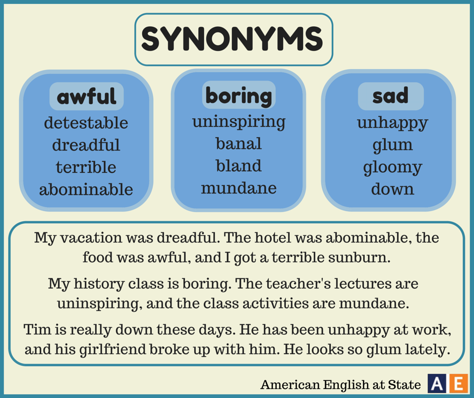 Synonym Sentence Examples