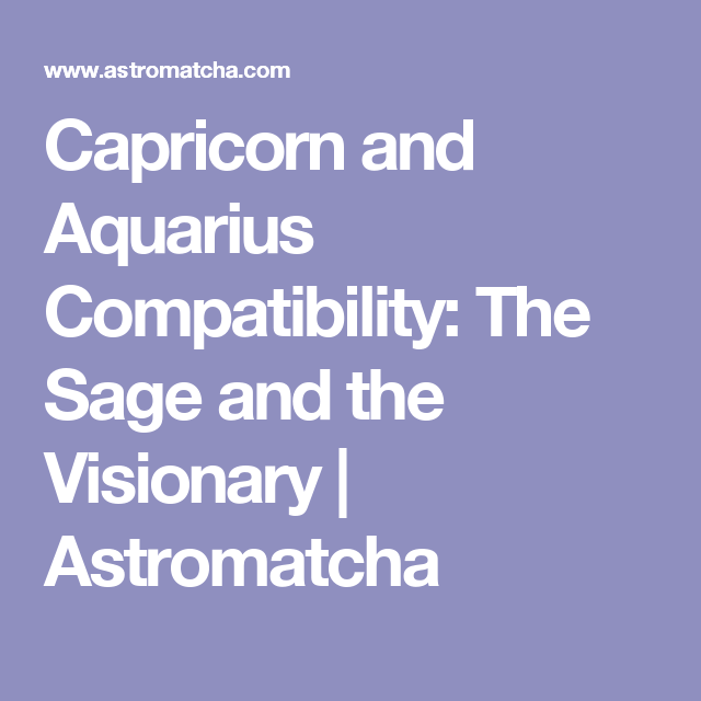capricorn woman and aquarius relationship