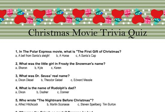 Today I Have Made These Adorable Free Printable Christmas Movie Trivia Quiz Worksheets That Y Christmas Movie Trivia Christmas Trivia Printable Christmas Games