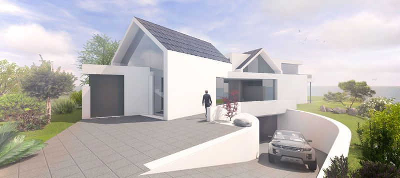 Moderne häuser satteldach mit garage  Satteldach modern ohne Dachüberstand interpetiert | Satteldach ...
