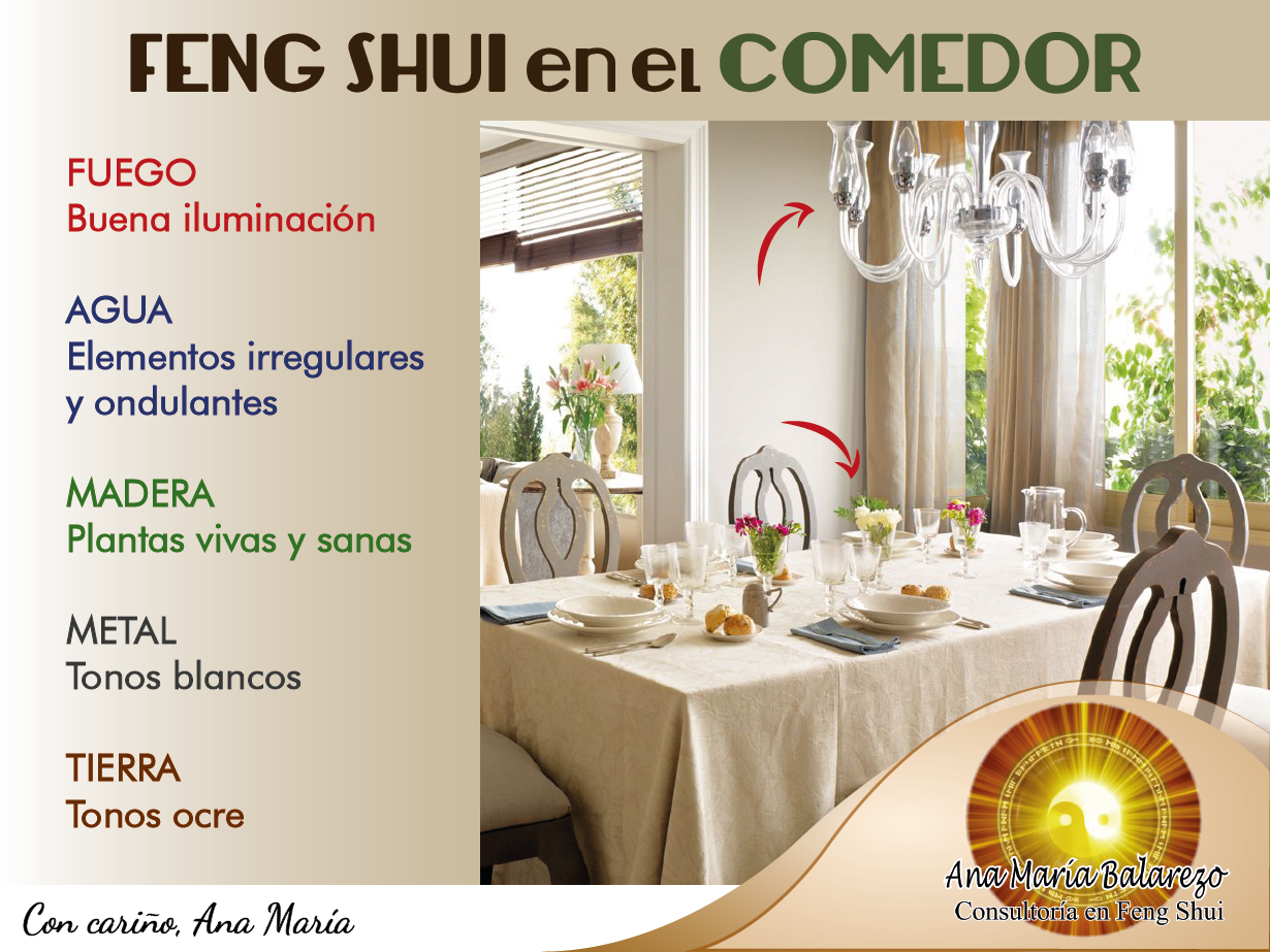 Decoracion de sala comedor segun feng shui for Decoracion segun feng shui 2017