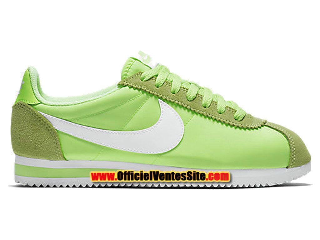 Wmns Nylon Classique Cortez - Chaussures De Sport Pour Les Hommes / Blanc Nike QqNCHU1zR