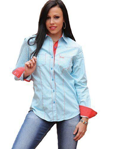 Cruel Girl Women's Light Blue Button Down Shirt [CTW9280001]