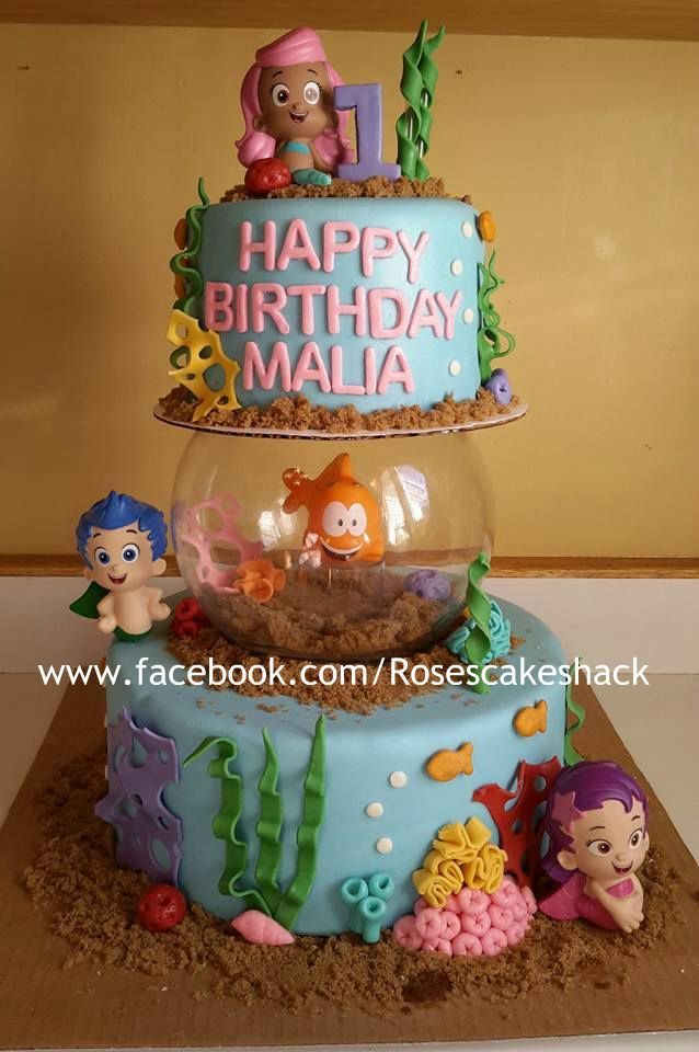 Bubble Guppies Cake With Images Bubble Birthday Bubble