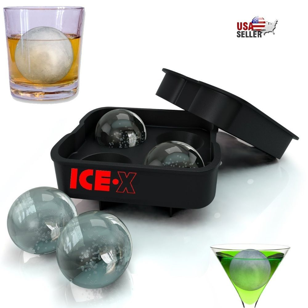 ICE Balls Maker Round Sphere Tray Mold Cube Whiskey Ball Silicone+Water Funnel