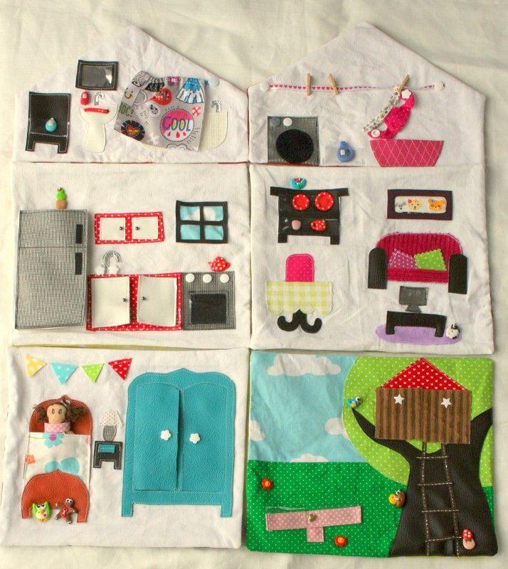 Ma maison de poup e en tissu la maison en entier couture pour enfant jeux et bricolages - Couture pour la maison ...
