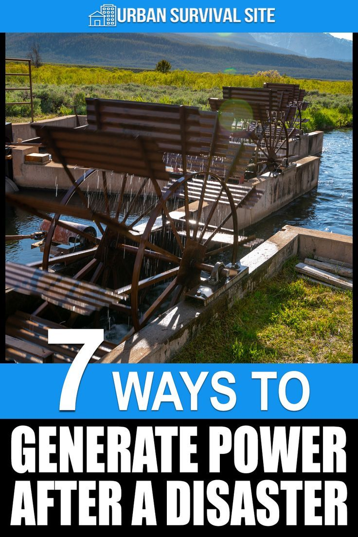 7 Ways You Can Generate Power After a Disaster #alternativeenergy