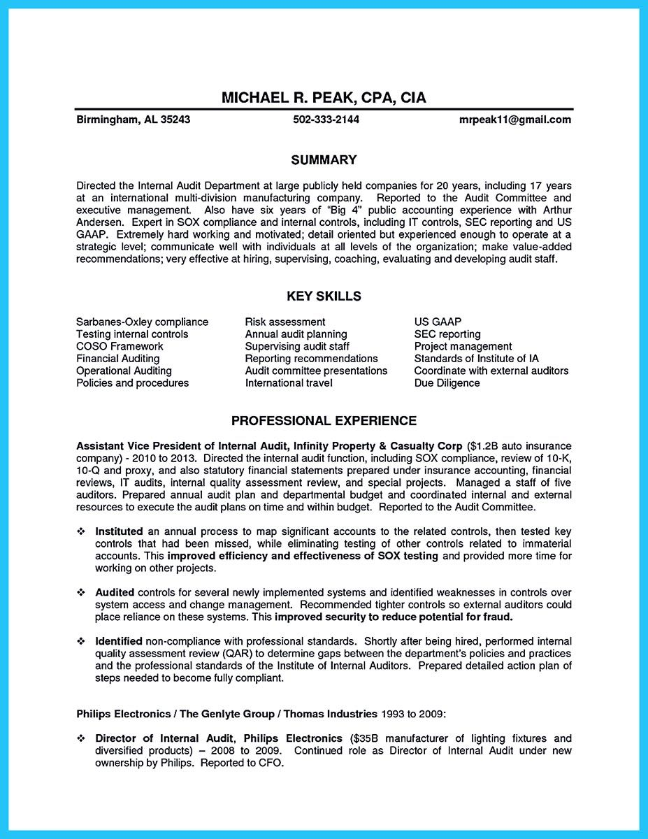 Auditor Job Description Resume - Free Professional Resume Templates ...