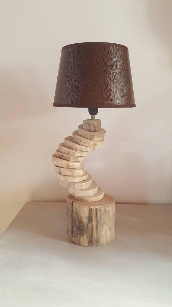 lampe en bois flotté,moderne,lampe art déco,lampe a poser,décor bois
