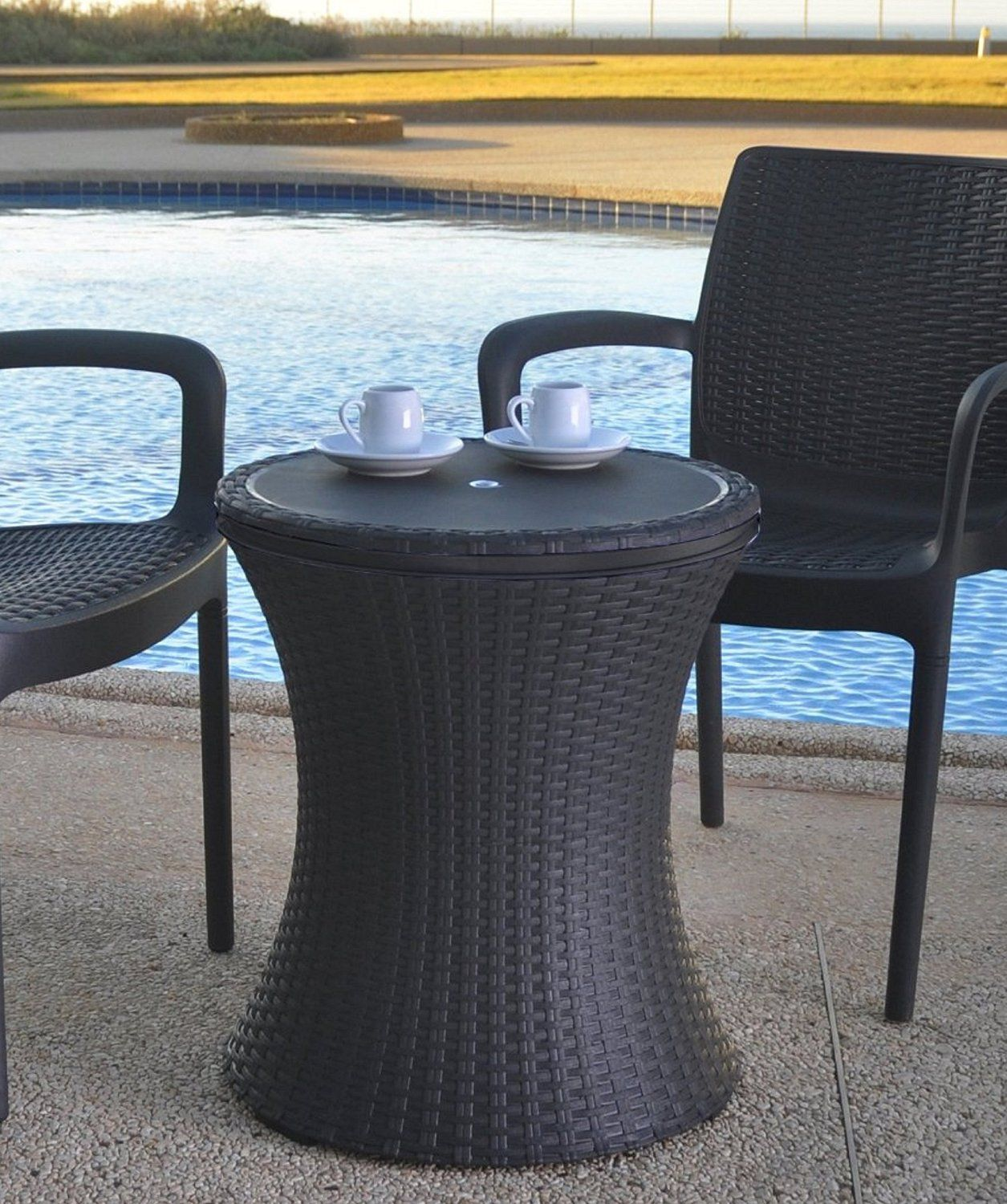 Amazon.com: Keter 7.5-Gal Cool Bar Rattan Style Outdoor Patio Pool ...