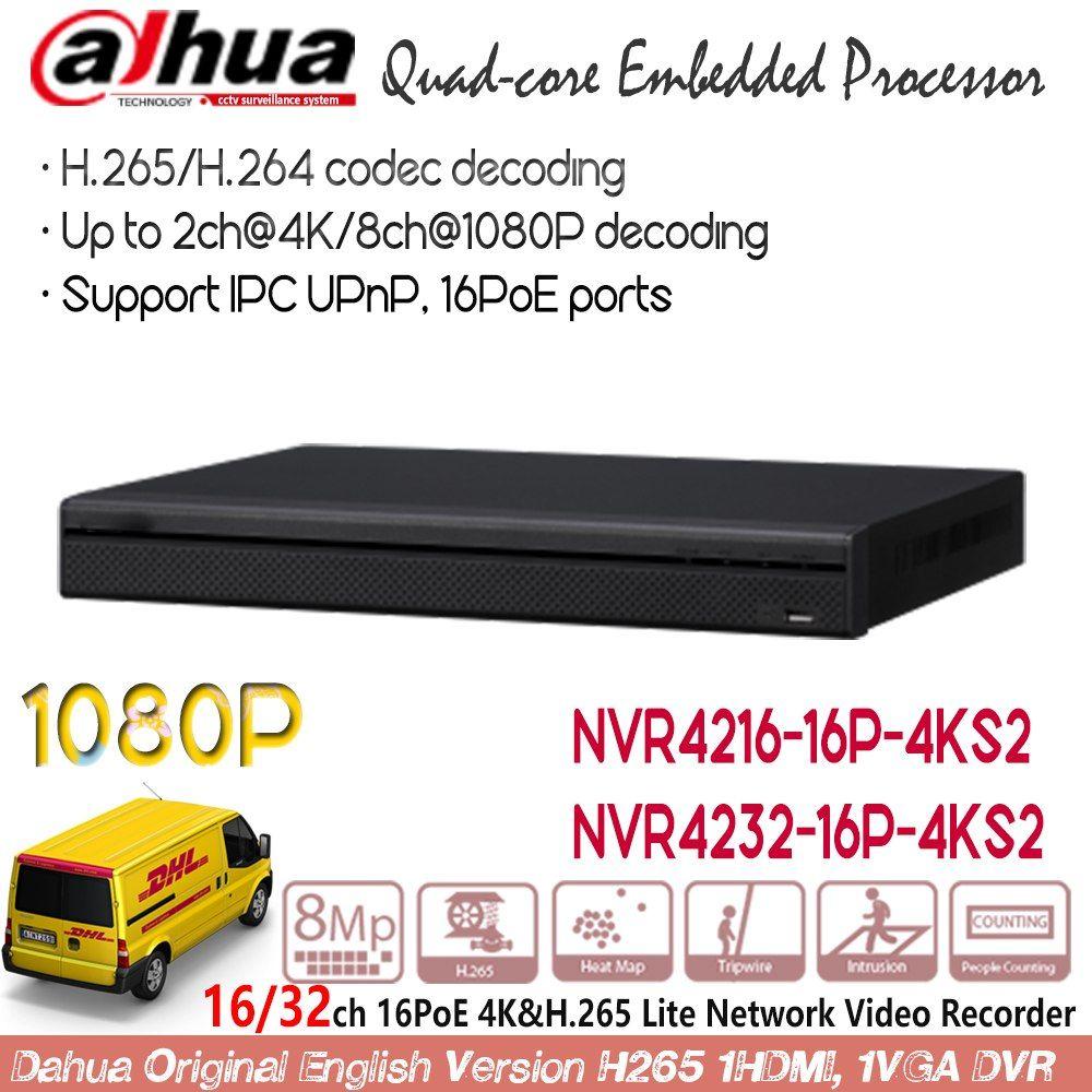 Dahua NVR 16ch 32ch 16PoE Ports 4K H 265 ONVIF Network Video